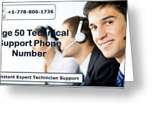 Sage Customer Support Number Usa  Greeting Card