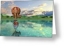 Sailing Away Daydream Steampunk Custom Greeting Card