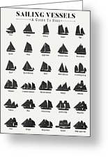 Sailing Vessel Types And Rigs Greeting Card