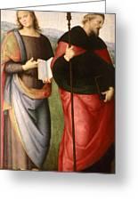 Saint John The Evangelist And Saint Augustine Greeting Card