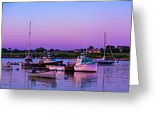Sakonnet Point Boats Greeting Card