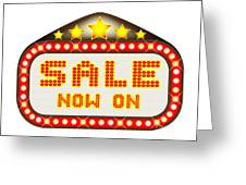Sale Theatre Marquee Greeting Card