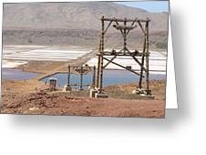 Salt Pans And 200 Yr Old Cable Car Winches Greeting Card