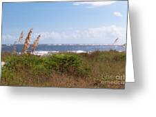 Salty Island Breeze Over Breach Inlet Greeting Card