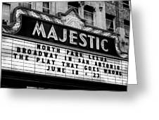 San Antonio Majestic Theatre Greeting Card