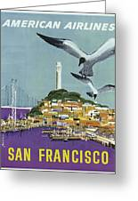 San Francisco American Airlines Greeting Card