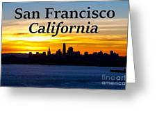 San Francisco Sunrise 2x3 Greeting Card