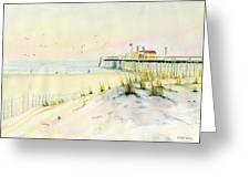 Sand Dunes At Ocean City Beach Maryland Greeting Card