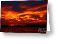 Fire In The Sandusky Sky Greeting Card