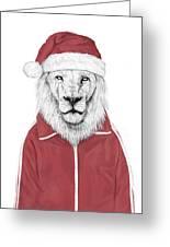Santa Lion  Greeting Card