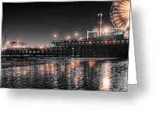 Santa Monica Glow By Mike-hope Greeting Card by Michael Hope