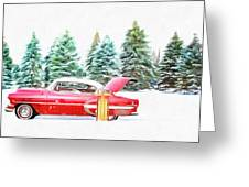 Santa's Other Sleigh Greeting Card