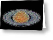 Saturnian Image 5 Greeting Card