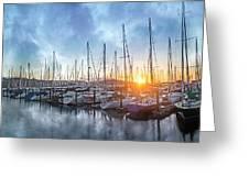 Sausalito California Morning Airs Greeting Card