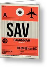 Sav Savannah Luggage Tag I Greeting Card