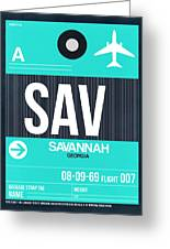 Sav Savannah Luggage Tag II Greeting Card