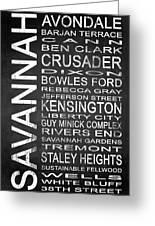 Savannah Ga 4 Greeting Card