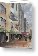 Savannah River Street Greeting Card