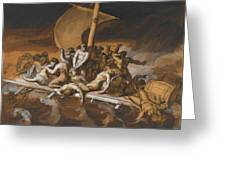 Scene Of Cannibalism For The Raft Of The Medusa Greeting Card