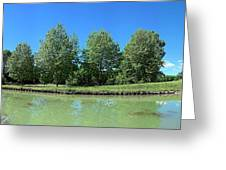 Scenic View Of Burgundy Canal Greeting Card