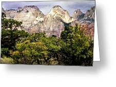 Scenic Zion - Mount Carmel Highway Drive 4 Greeting Card