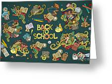 School And Education Doodles Hand Drawn Greeting Card