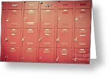 School Lockers Greeting Card