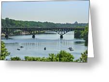 Schuylkill River View - Strawberry Mansion Bridge Greeting Card
