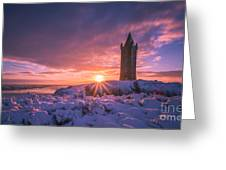 Scrabo Winter Sunrise Greeting Card
