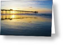 Scripps Pier Golden Hour 1 Greeting Card
