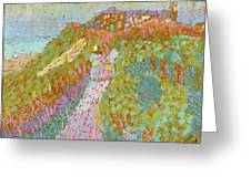 Sea And Dunes In Domburg Greeting Card