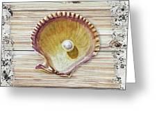 Sea Shell Beach House Rustic Chic Decor IIi Greeting Card