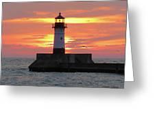 Seagulls And Sunrise Greeting Card