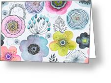 Seamless Watercolor Abstraction Floral Greeting Card