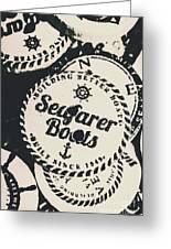Seaside Sailors Badge Greeting Card