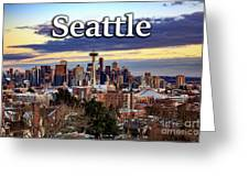 Seattle From Kerry Park Greeting Card