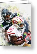 Seattle Seahawks Against San Francisco 49ers Greeting Card