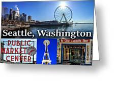 Seattle Washington Waterfront 01 Greeting Card