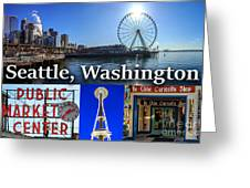 Seattle Washington Waterfront 01 Greeting Card