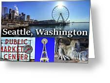 Seattle Washington Waterfront 02 Greeting Card