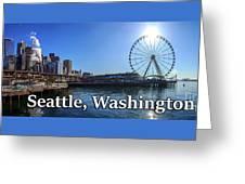 Seattle Washington Waterfront  Greeting Card