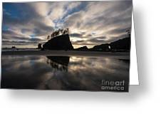 Second Beach Seastack Clarity Greeting Card