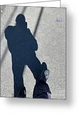 Self Portrait 19 - Balancing With My Shadow Greeting Card