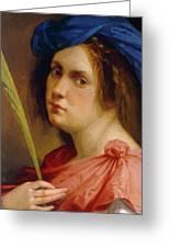 Self Portrait As A Female Martyr 1615 Greeting Card