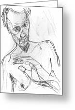 Self-portrait Pencil Reach 11 Greeting Card