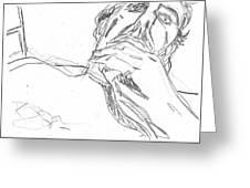 Self-portrait Pencil Reach 2 Greeting Card