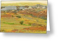 September In The Realm Of West Dakota Greeting Card