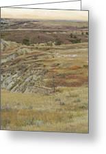 September Reverie In Dakota West Greeting Card