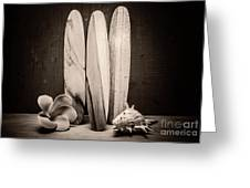 Seventies Surfing Greeting Card