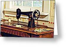 Sewing Machine In Kitchen Greeting Card